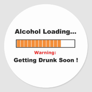Alcohol Loading Full Classic Round Sticker
