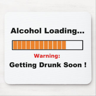 Alcohol Loading Full Mouse Pad