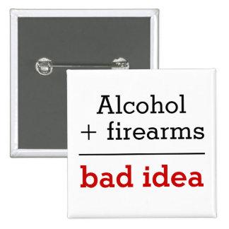 Alcohol más idea igual de las armas de fuego mala