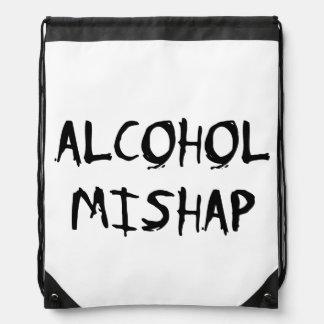 Alcohol Mishap Drawstring Backpacks