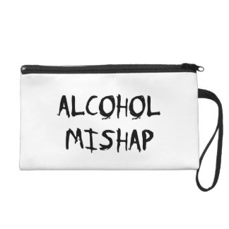 Alcohol Mishap Wristlet Purses