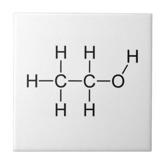 Alcohol Molecule Ceramic Tile