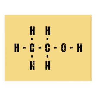 Alcohol Molecule Postcard
