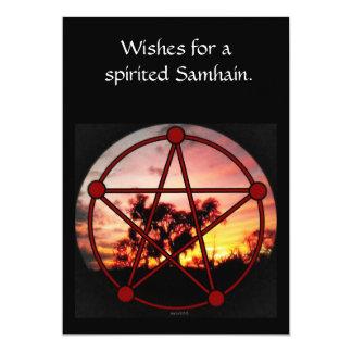 """Alcohol página del pentáculo de Samhain de la Invitación 5"""" X 7"""""""