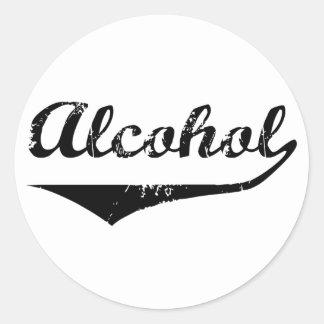 Alcohol Etiquetas Redondas