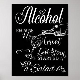 Alcohol porque ninguna gran impresión de la póster