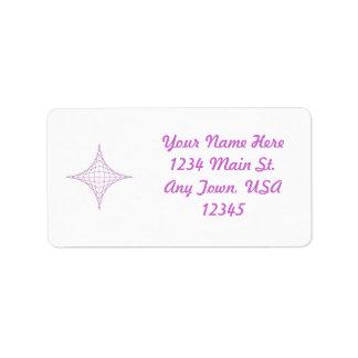 Alcohol (púrpura) etiqueta de dirección