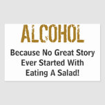 Alcohol Rectangular Sticker
