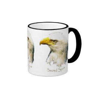 ALCOHOL SAGRADO Eagle calvo Taza De Dos Colores