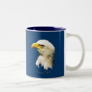 ALCOHOL SAGRADO Eagle calvo Taza De Dos Tonos