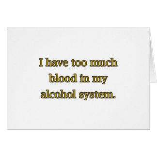 Alcohol System Card