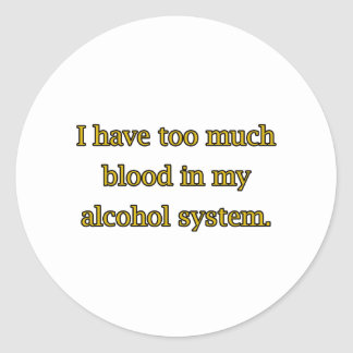 Alcohol System Classic Round Sticker