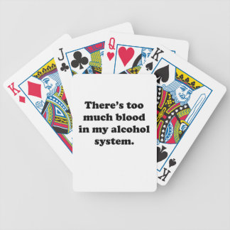 Alcohol System Bicycle Playing Cards