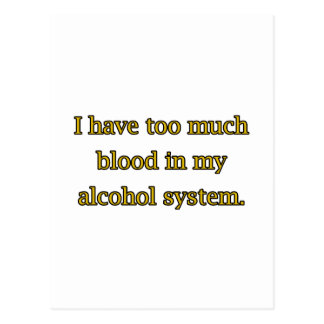 Alcohol System Postcard