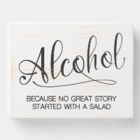 Alcohol Wooden Box Sign