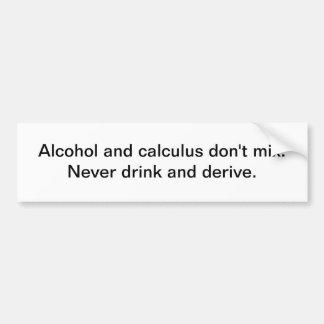 Alcohol y pegatina para el parachoques del cálculo etiqueta de parachoque