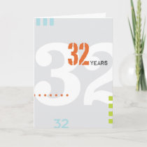 Alcoholic Anniversary Card: 32 Years Card