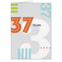 Alcoholic Anniversary Card: 37 Years Card