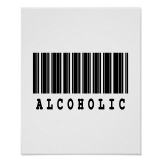alcoholic barcode design poster