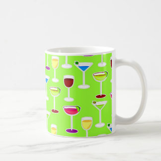 Alcoholic Beverages Cocktail Party Print - Green Coffee Mug