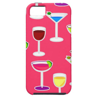 Alcoholic Beverages Cocktail Party Print - Pink iPhone 5 Cover