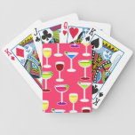 Alcoholic Beverages Cocktail Party Print - Pink Bicycle Card Decks