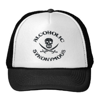 Alcoholic Synonymous Mesh Hat