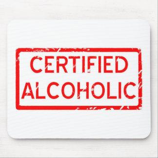 ALCOHÓLICO CERTIFICADO ALFOMBRILLA DE RATONES
