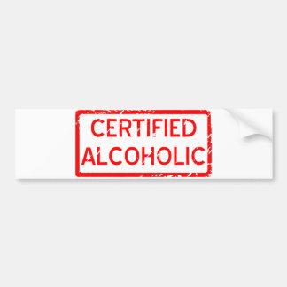 ALCOHÓLICO CERTIFICADO PEGATINA PARA AUTO