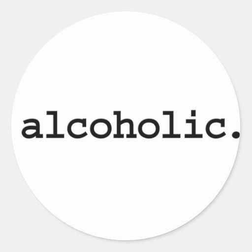 alcohólico etiquetas redondas
