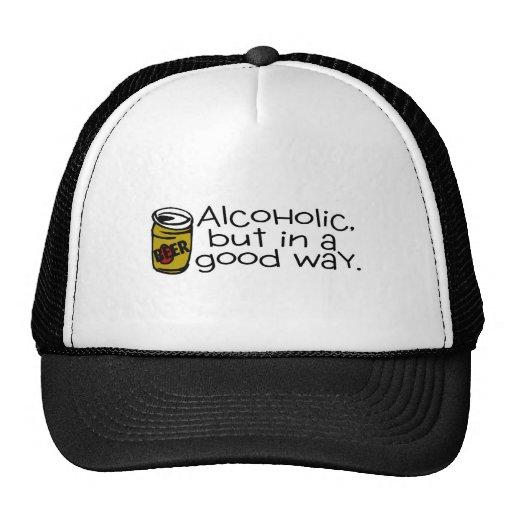 Alcohólico pero en una buena cerveza de la manera gorros bordados