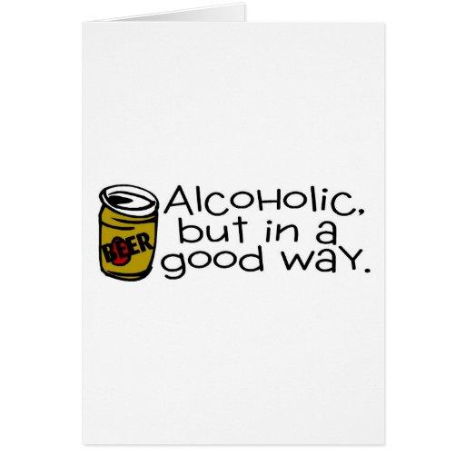 Alcohólico pero en una buena cerveza de la manera tarjeta