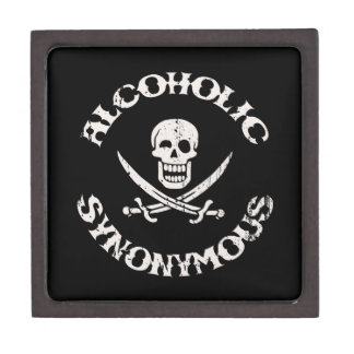 Alcohólico sinónimo caja de joyas de calidad