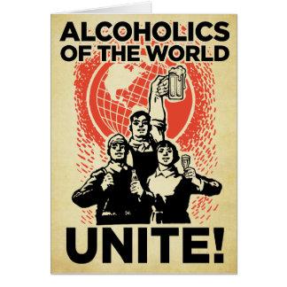 Alcohólicos de la tarjeta de cumpleaños del mundo