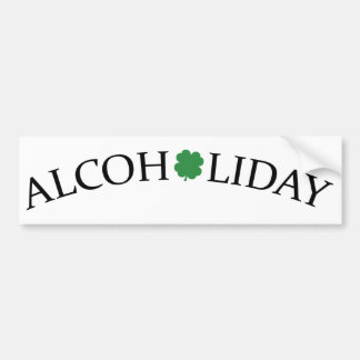 Alcoholiday Car Bumper Sticker