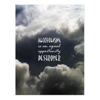 Alcoholism Postcard