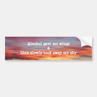 Alcoholism sunrise bumper sticker
