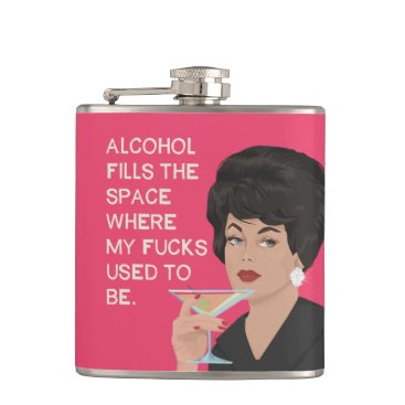 Alcolhol fills the space where my cares used to be flask