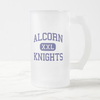 Alcorn Knights Middle Columbia 16 Oz Frosted Glass Beer Mug
