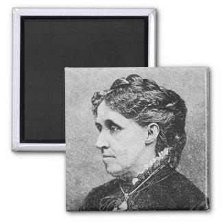 Alcott ~ Louisa May Novelist Writer 2 Inch Square Magnet