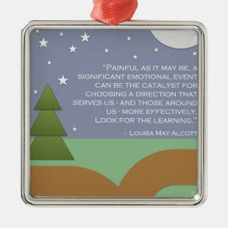 Alcott's Encouragement & Learning Metal Ornament