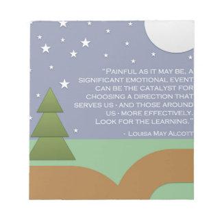 Alcott's Encouragement & Learning Notepad