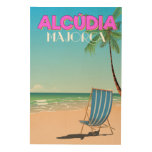 Alcúdia Majorca beach travel poster