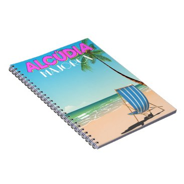 Beach Themed Alcúdia Majorca beach travel poster Notebook