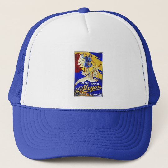 Alcyon Cycles - Vintage Bicycle Art Trucker Hat