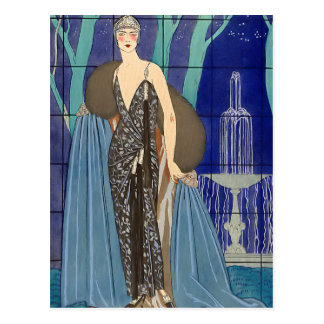 Alcyone Art Deco Pochoir Postcard