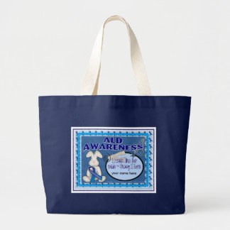 ALD AWARENESS SOME-BUNNY I love Large Tote Bag