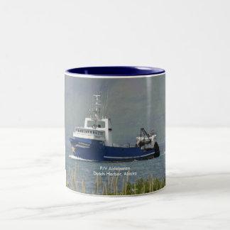 Aldebaran, Fishing Trawler in Dutch Harbor, AK Two-Tone Coffee Mug