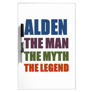 Alden el hombre el mito la leyenda tablero blanco