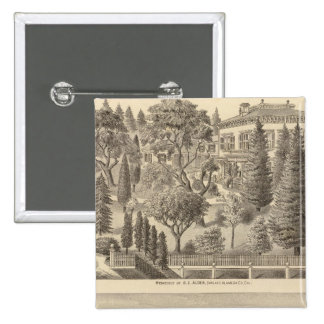 Alden residence, Harmon Tract 2 Inch Square Button